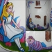 Alice In Wonderland Guitar Painting